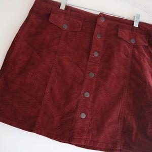 Mossimo Corduroy Button Skirt